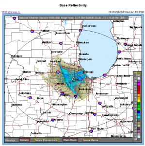 Radar image of Lake Breeze